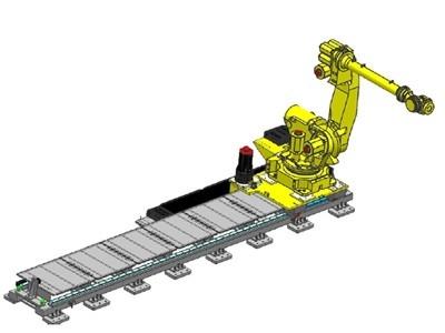 Cubic机器人行走轴 地轨 机器人外部轴 吊挂式行走轨道